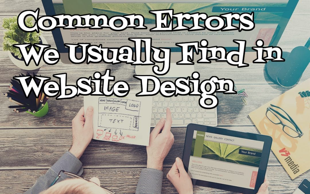 Common Errors We Usually Find in Website Design