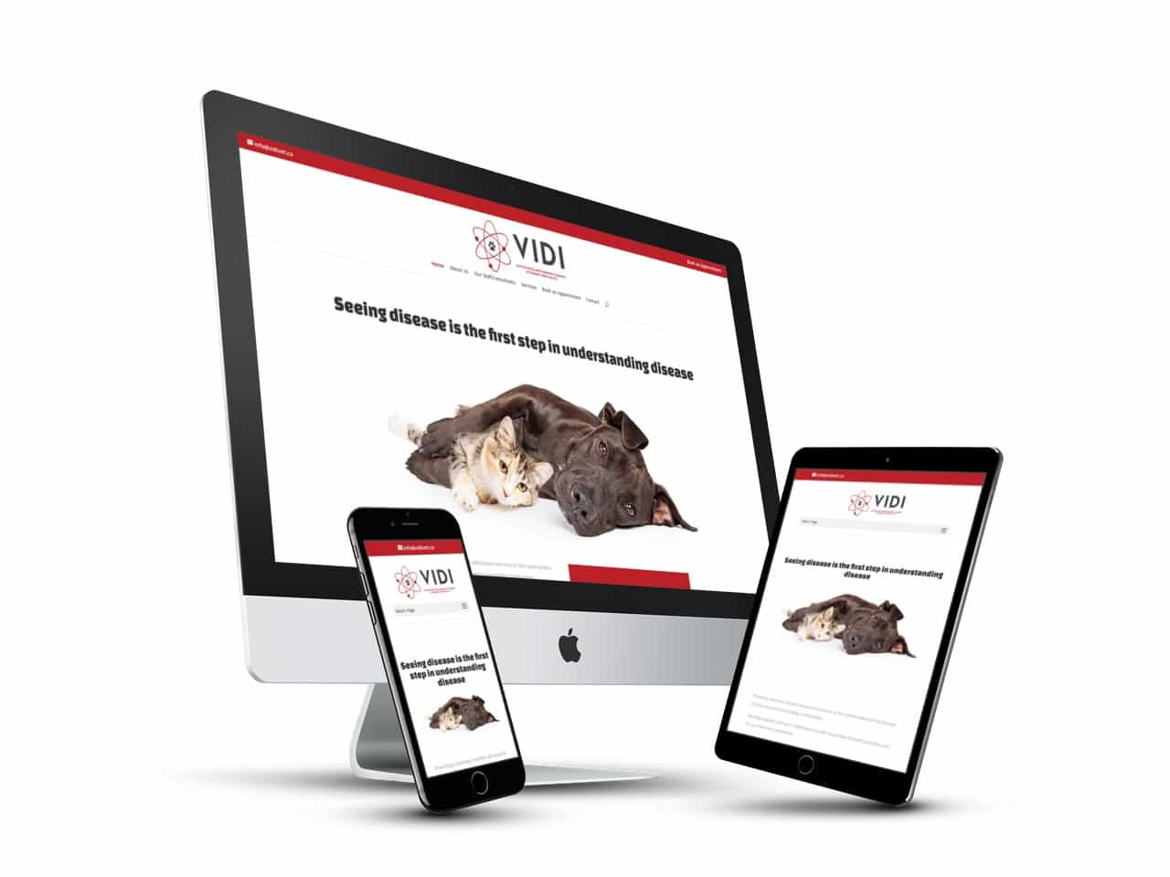 Branding, Print Design, Website Design, Hosting, Management - VIDI Veterinary Services